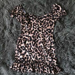 Boohoo cheetah leopard dress